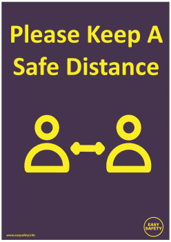 Easy Safety COVID Poster Distance Hands Sanitiser